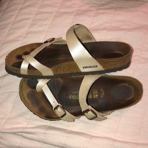 Pearl Birkenstock Mayari Toe Loop Sandals